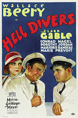 Royalty-Free and Rights-Managed Images - Hell Divers 2, with Wallace Beery and Clark Gable, 1932 by Stars on Art