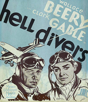 Royalty-Free and Rights-Managed Images - Hell Divers, with Wallace Beery and Clark Gable, 1932 by Stars on Art