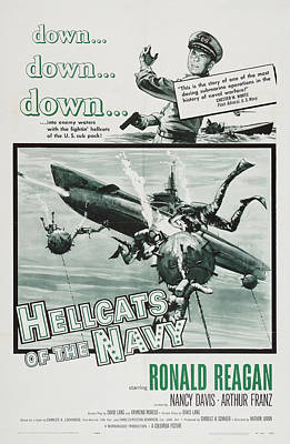 Royalty-Free and Rights-Managed Images - Hellcats of the Navy, with Ronald Reagan and Nancy Davis, 1957 by Stars on Art