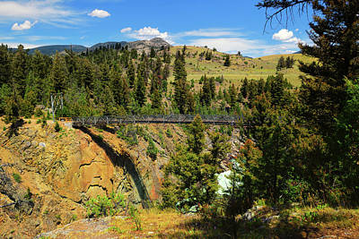 Railroad - Hellroaring Suspension Bridge by Greg Norrell