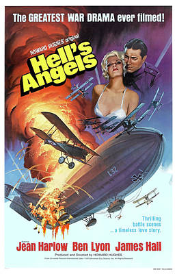 Mixed Media Royalty Free Images - Hells Angels 1930 movie poster  Royalty-Free Image by Stars on Art