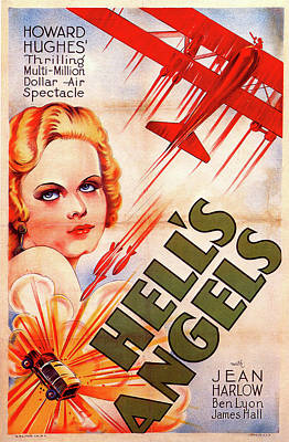 Mixed Media Royalty Free Images - Hells Angels movie poster 1930 Royalty-Free Image by Stars on Art