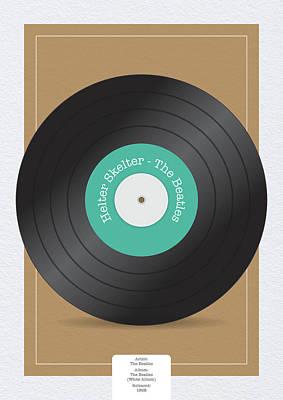 Digital Art - Helter Skelter Vinyl Record by Samuel Whitton