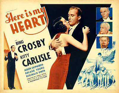 Pasta Al Dente Royalty Free Images - Here is My Heart movie poster, with Bing Crosby, 1934 Royalty-Free Image by Stars on Art