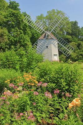 Vintage Movie Stars - Heritage Gardens Windmill Cape Cod by John Burk