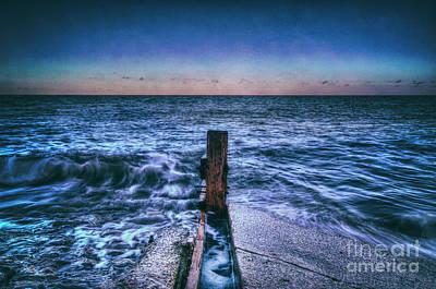 Digital Art - Herne Bay Waves by Nigel Bangert