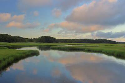 Chemical Glassware - Herring River Cape Cod Sunset by John Burk