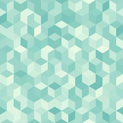 Royalty-Free and Rights-Managed Images - Hexagonal light blue seamless pattern by Julien