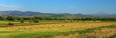Landscapes Royalty-Free and Rights-Managed Images - Hey Hey Hay Tractor Twin Peaks Panorama by James BO Insogna