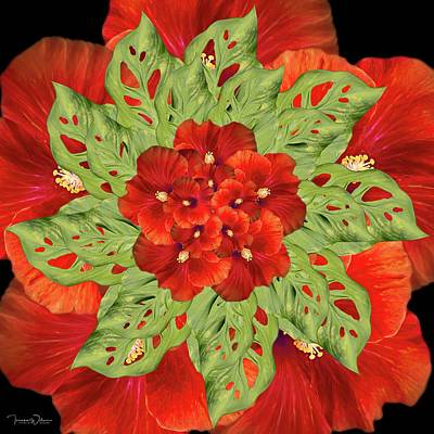 Achieving - Hibiscus Mandala by Teresa Wilson