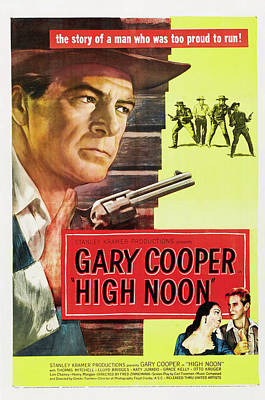 Mixed Media Royalty Free Images - High Noon movie poster 1952 Gary Cooper Royalty-Free Image by Stars on Art