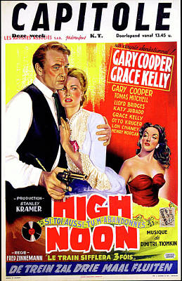 Mixed Media Royalty Free Images - High Noon movie poster 1952 Royalty-Free Image by Stars on Art