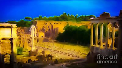 Travel - High Saturation Roman Ruins by Jason Furmanek