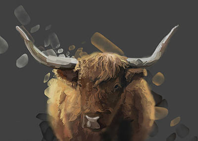 Lucille Ball Royalty Free Images - Highland Cattle V2 Royalty-Free Image by Bekim M