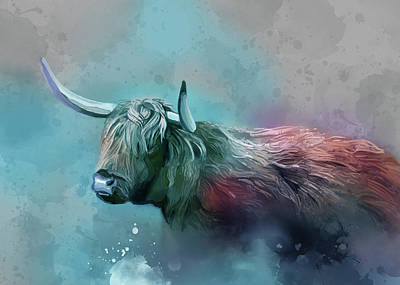 Everett Collection - Highland Cattle Vintage V3 by Bekim M