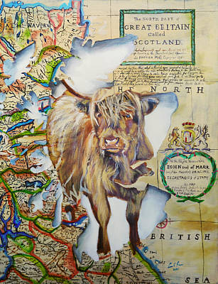 Painting - Highland cow, Spirit of Scotland painting by Gordon Bruce