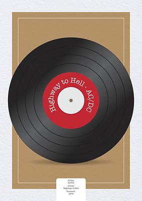 Digital Art - Highway to Hell Vinyl Record by Samuel Whitton