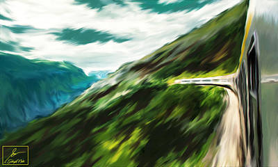 Sports Paintings - Hills of Montenegro by Subhajit Nath