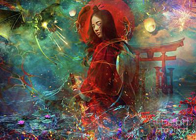 Digital Art - Himiko Landscape by MGL Meiklejohn Graphics Licensing