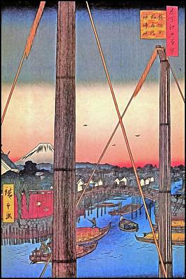 1-war Is Hell Royalty Free Images - Hiroshige Inari Bridge and Minato Shrine Japanese Art Royalty-Free Image by John Shepherd
