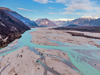 Surrealism Royalty-Free and Rights-Managed Images - His Majesty, the Tagliamento River by Nicola Simeoni