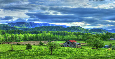 Rights Managed Images - Historic Old Barn 2 Great Smoky Mountains Blue Ridge Mountains Landscape Art Royalty-Free Image by Reid Callaway