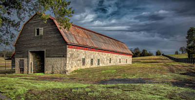 Photograph - Historic Stone Barn, Tennessee by Marcy Wielfaert