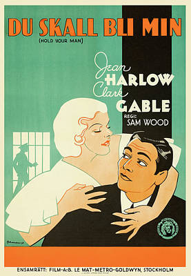 Royalty-Free and Rights-Managed Images - Hold Your Man, with Clark Gable and Jean Harlow, 1933 by Stars on Art