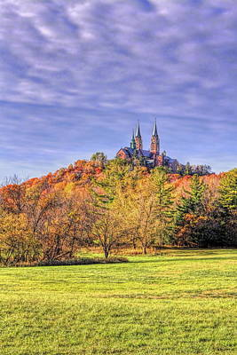 Spot Of Tea Rights Managed Images - Holy Hill Basilica In The Fall Sunshine Royalty-Free Image by Dale Kauzlaric