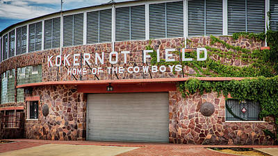 Audrey Hepburn - Home of the Cowboys - Kokernot Field by Stephen Stookey