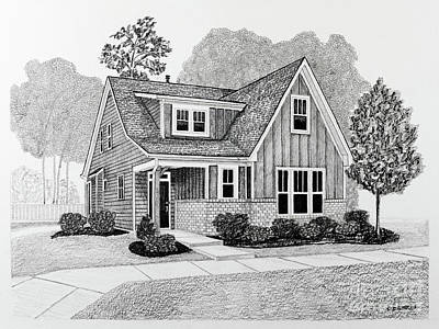 Drawings Royalty Free Images - Home Portrait 3030 Royalty-Free Image by Robert Yaeger