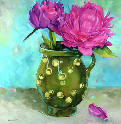 Royalty-Free and Rights-Managed Images - Homegrown Peonies by Catherine Twomey