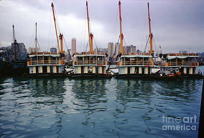 Billiard Balls - Hong Kong Boats in Harbor by Wernher Krutein