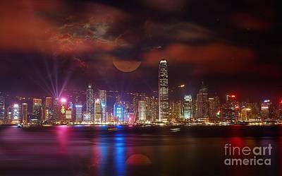 Sean - Hong Kong City scape  by Gull G