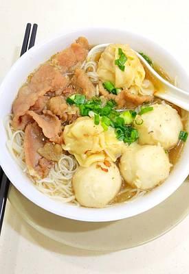 Katharine Hepburn - Hong Kong Famous Won Ton and Beef Noodles by Ha LI