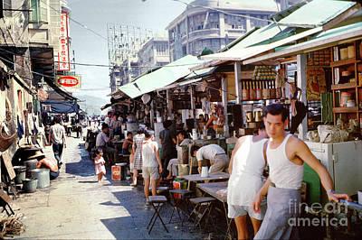 Kitchen Signs - Hong Kong Street Scene 1962 by Wernher Krutein