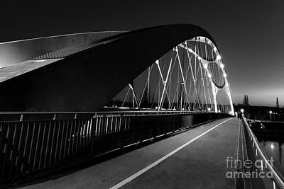 Christmas Christopher And Amanda Elwell - Honnsell Bridge in Black and White by Norma Brandsberg