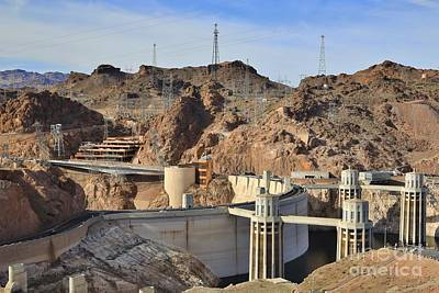Water Droplets Sharon Johnstone - Hoover Dam in the Desert Valley by Douglas Sacha
