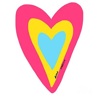Digital Art - Hope Filled Heart I by Aisha Isabelle
