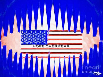 Soap Suds - Hope over Fear with the National Flag of the USA 6 by Douglas Brown