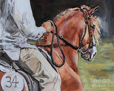Painting - Horse And Rider by Maria Reichert