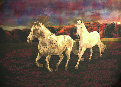 Mixed Media - Horse Freedom On An Autumn Day  by Patricia Keller