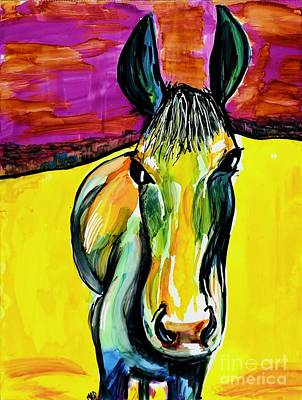Animals Paintings - Horse Pop Painting by Patty Donoghue