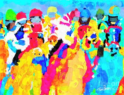Animals Digital Art - Horse Race by Tom Sachse