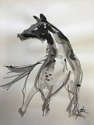 Drawing - Horsepower by Ryan Hopkins
