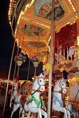Polaroid Camera - Horses and Antique Merry-go-round.  by Blair Seitz
