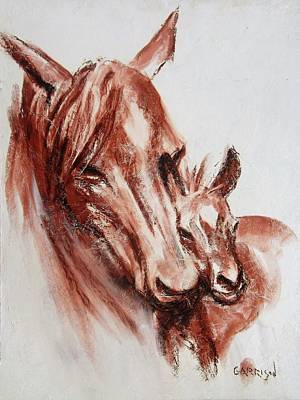 Drawing - Horses by David Garrison