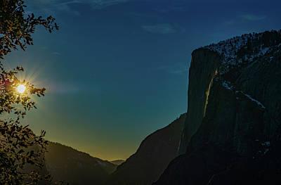 Photograph - Horsetail Falls with Sun Burst  by Bipul Haldar