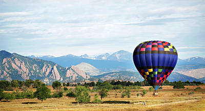 The Bunsen Burner - Hot Air Balloon with Mountains by Marilyn Hunt