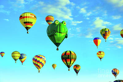 Royalty-Free and Rights-Managed Images - Hot air balloons by Jeff Swan